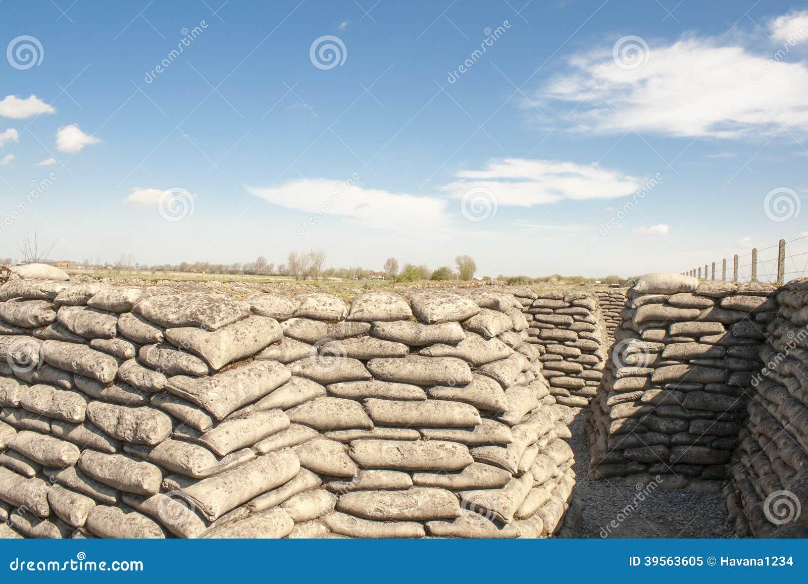 Zandzakkenwereldoorlog 1 geul van dood Vlaanderen België