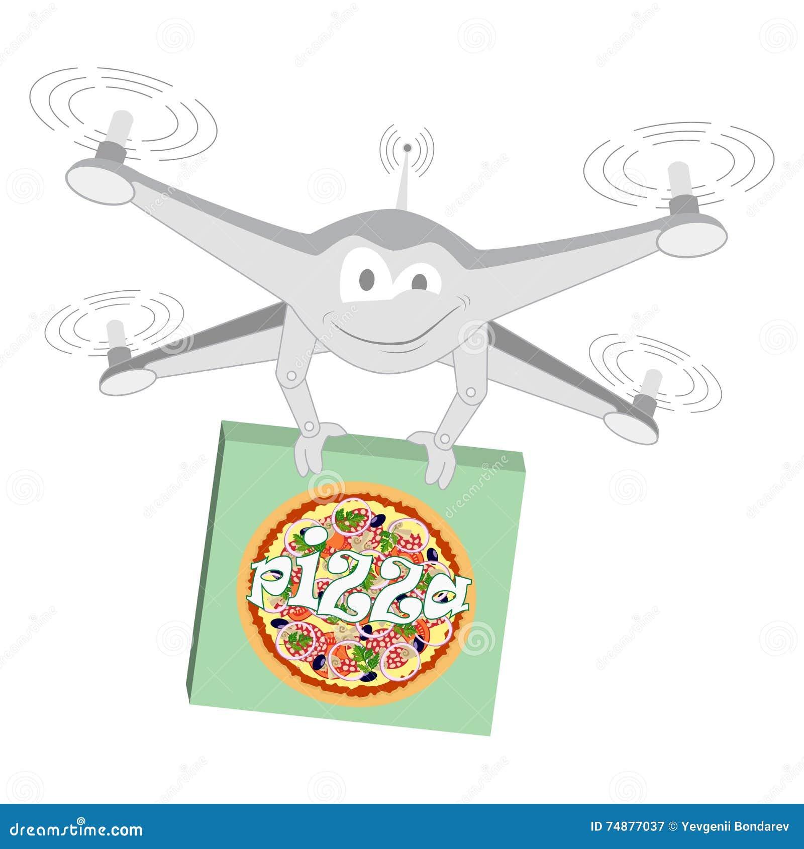Zangão engraçado Pizza Isolado