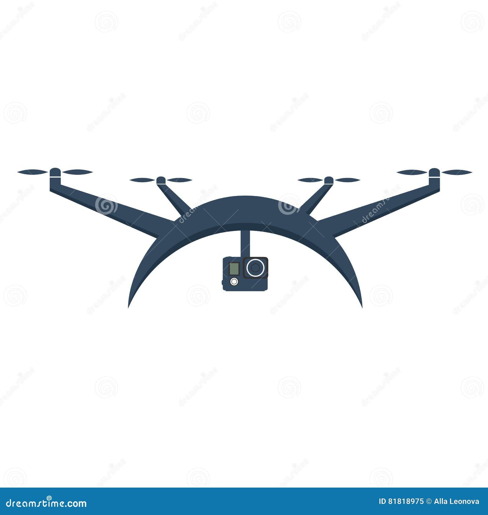 Zangões com câmera da ação Projeto liso Quadrocopter do zangão