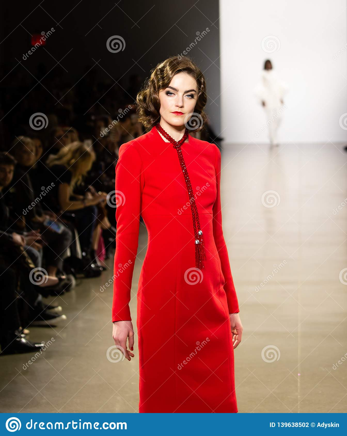 Zang Toi FW19 pasa startowego przedstawienie jako część new york fashion week tam
