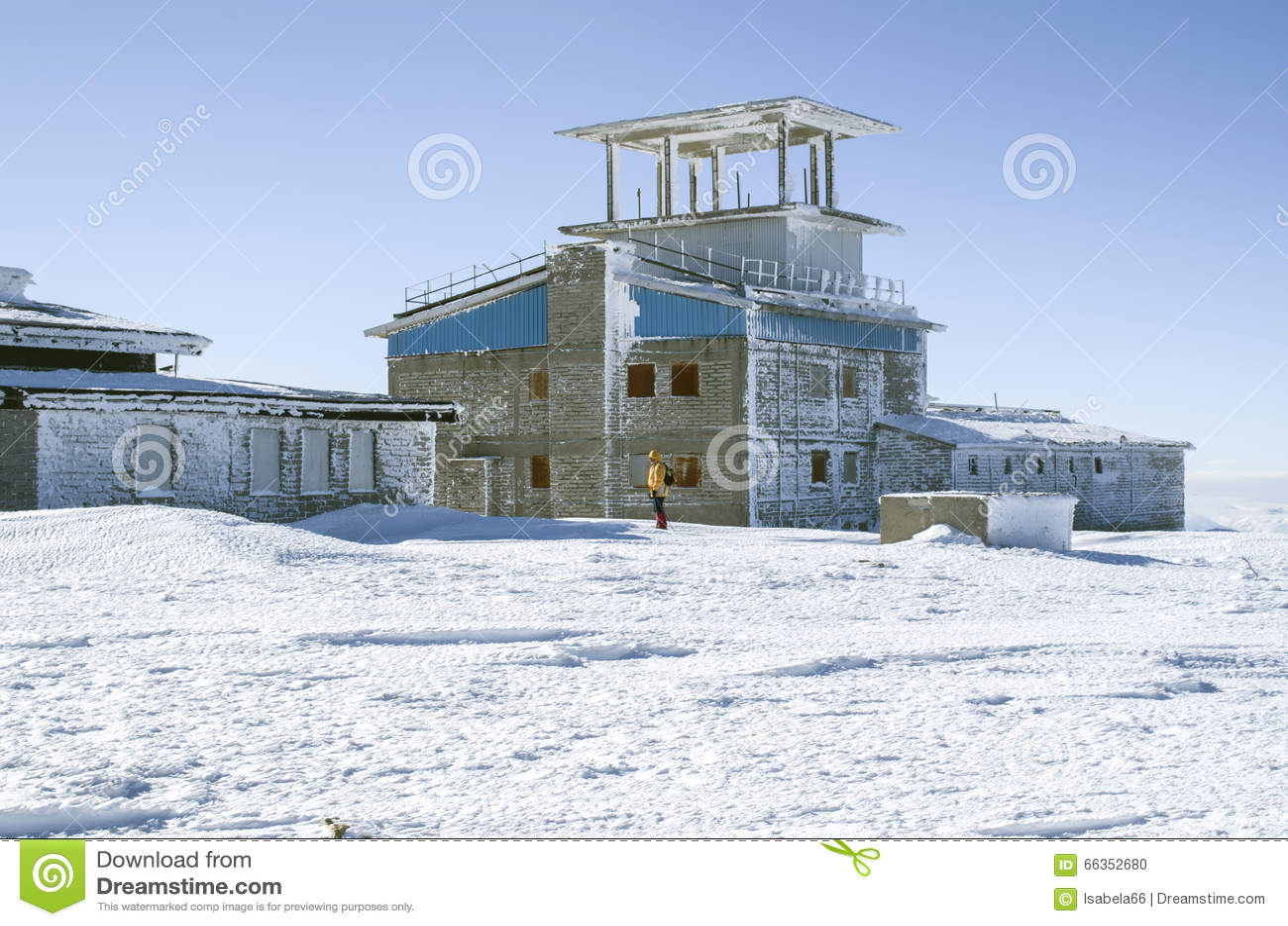 Zaniechana militarna baza na górze Golyam Kademlya, Bułgaria