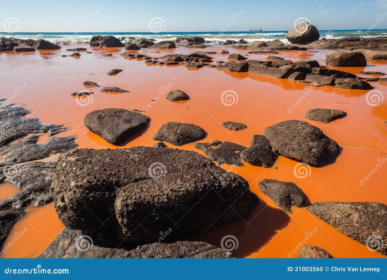 Zanieczyszczenie oceanu Przemysłowy Wodny błękit