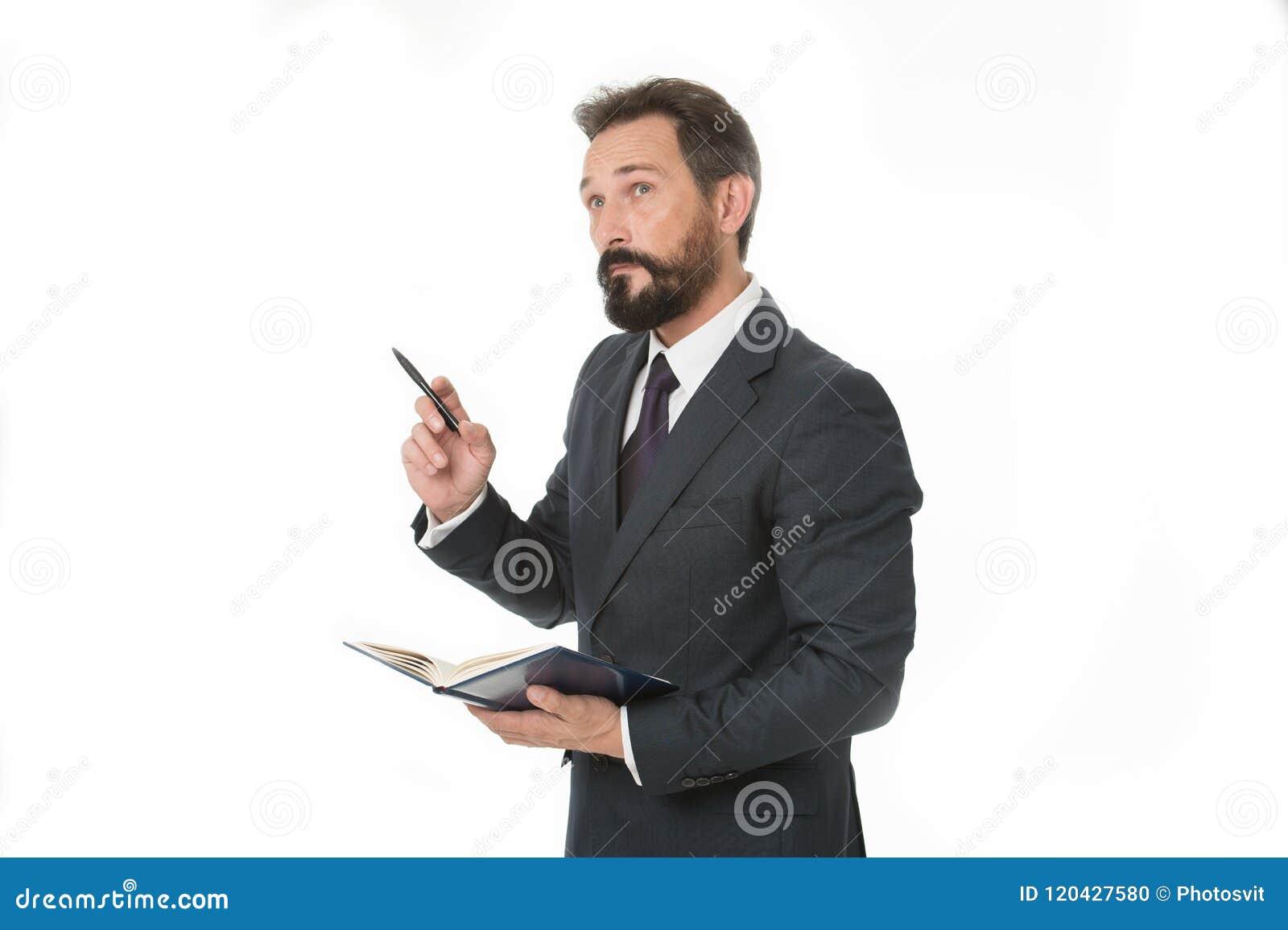 Zanim spotykający pisze puszek informaci musi przenosić i potrzeba pyta Biznesmena planowania rozkładu chwyta notepad Mężczyzna b
