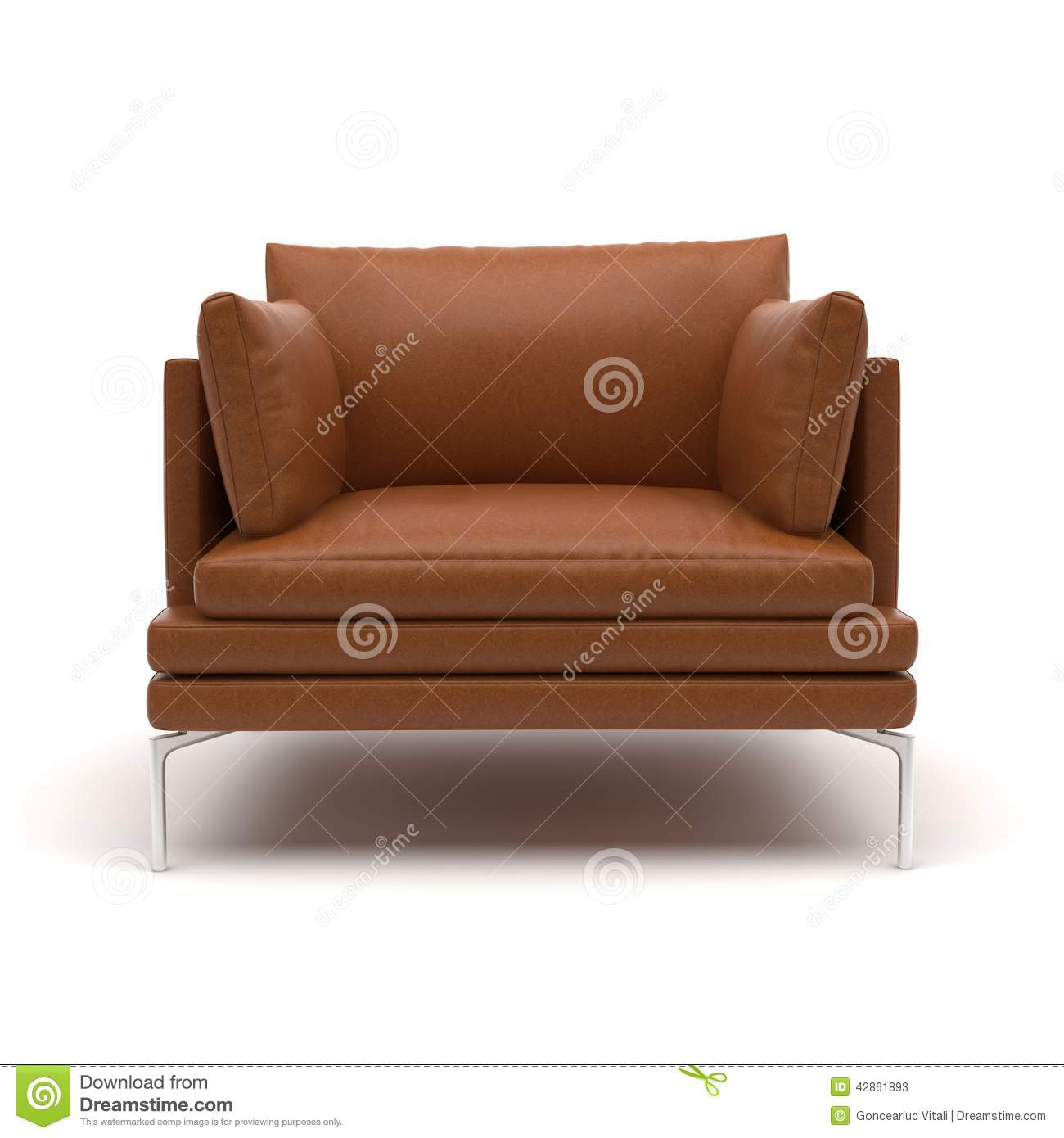 Modern classic armchair - Zanotta William Armchair Stock Photos