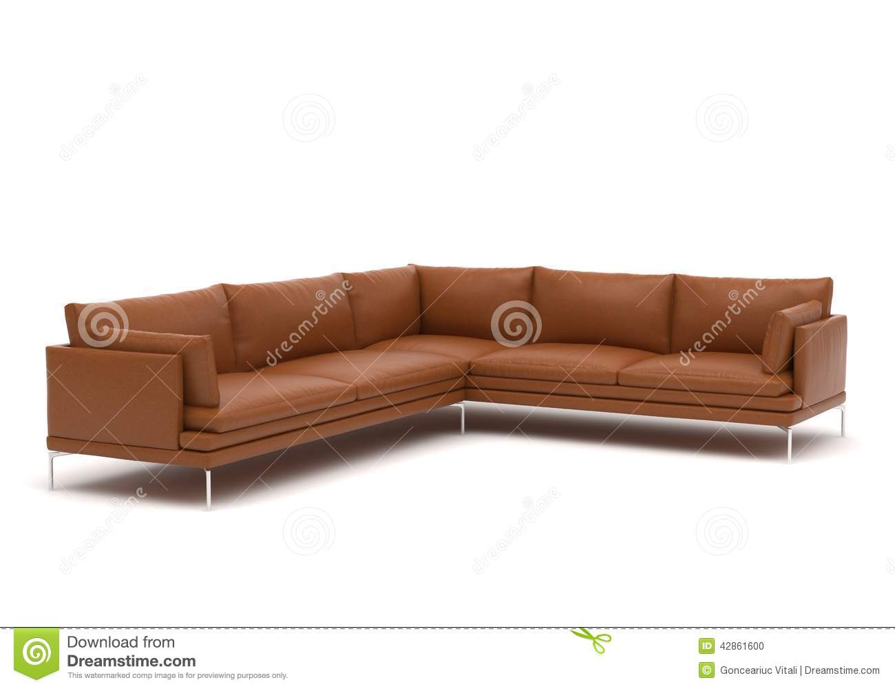 zanotta william corner sofa stock photo image 42861600. Black Bedroom Furniture Sets. Home Design Ideas
