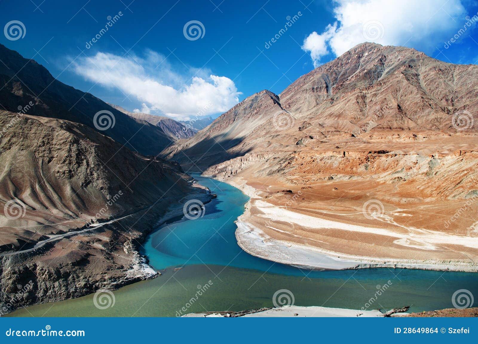 Zanskar en rivieren Indus
