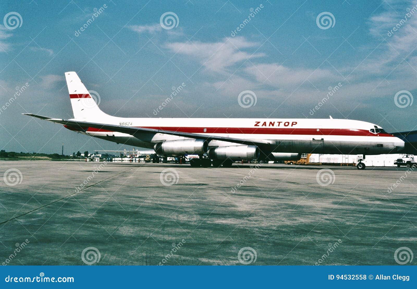 Zantop国际航空公司道格拉斯DC-8-62F N8152A