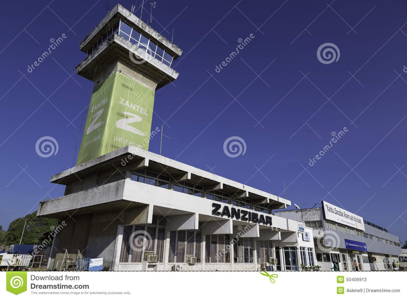 Aeroporto Zanzibar : Zanzibar airport editorial stock photo image