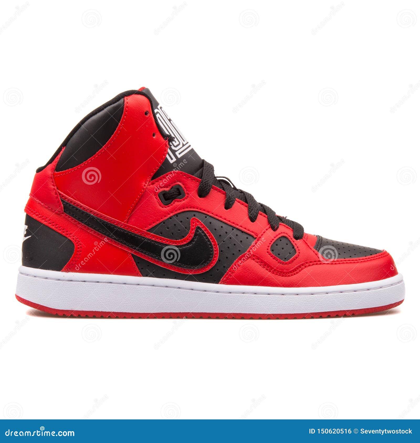 Zapatilla de deporte roja y negra de Nike Son Of Force Mid