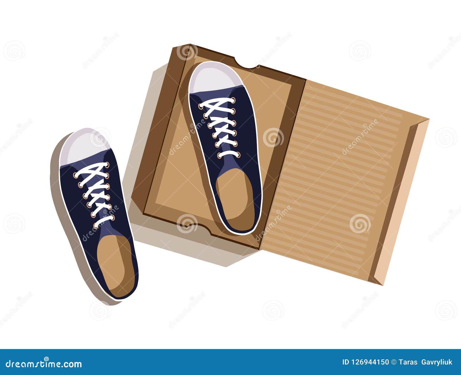 Deporte Azules En Del Caja Una Ilustración Zapatillas De Cartón 2EIDH9