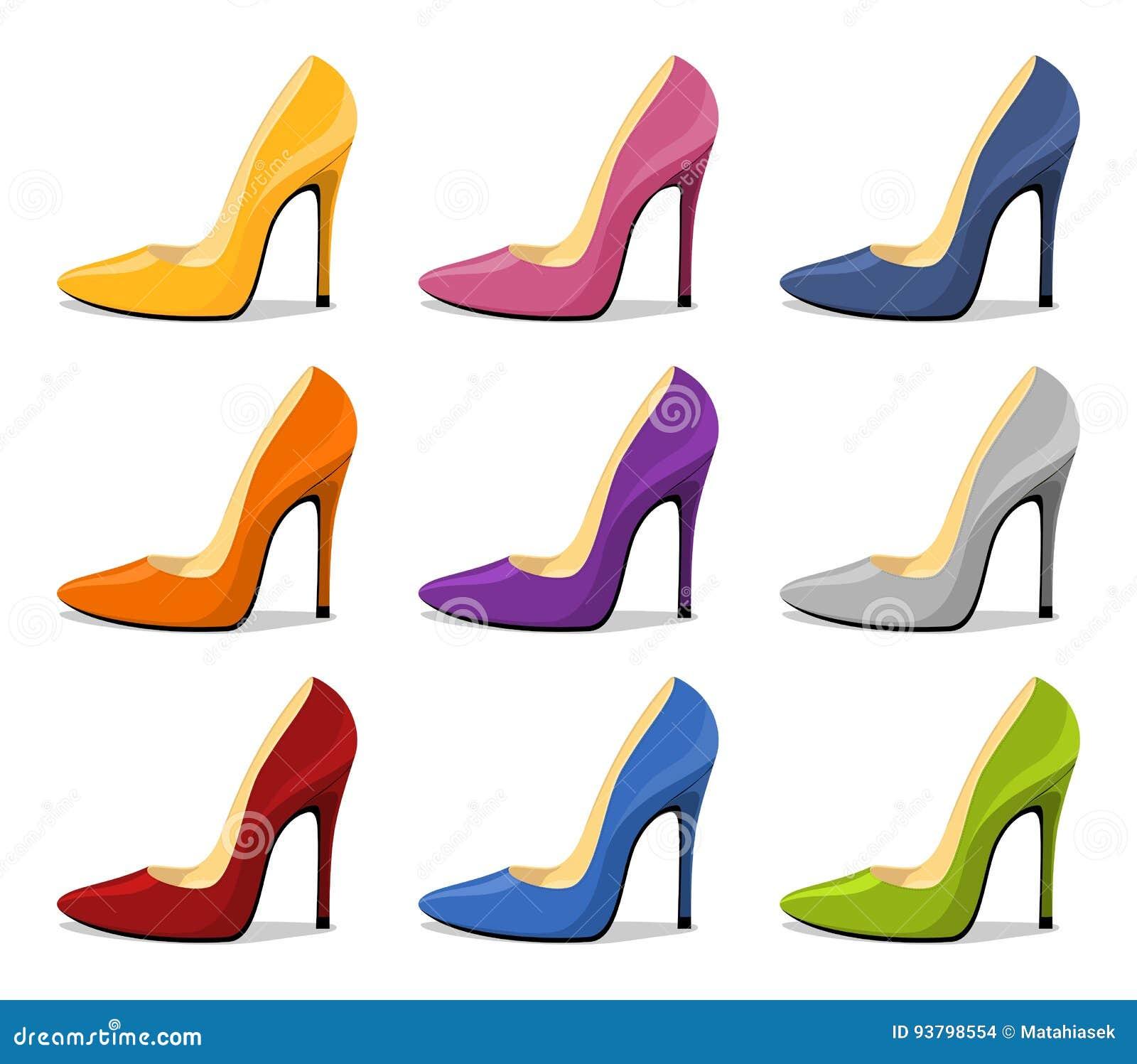 ea792f4c3a2c Zapato Del Estilete Tacón Alto Para Mujer Rojo Con La Sombra Aislada ...