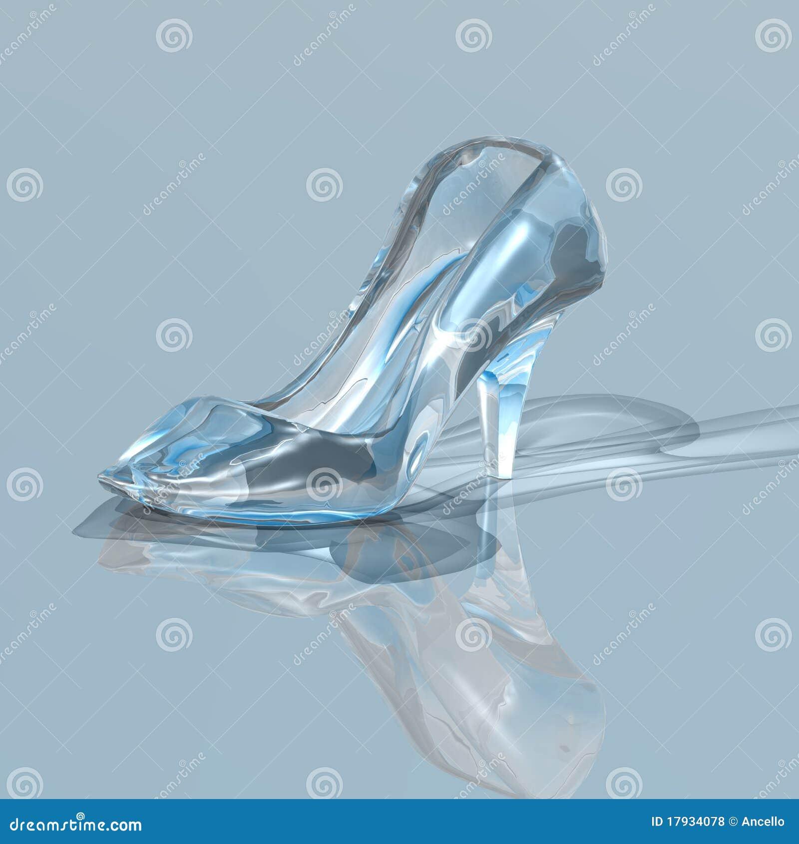 Zapato Del Vidrio De La Mujer Stock de ilustración - Ilustración de ... 35eb224e35dc