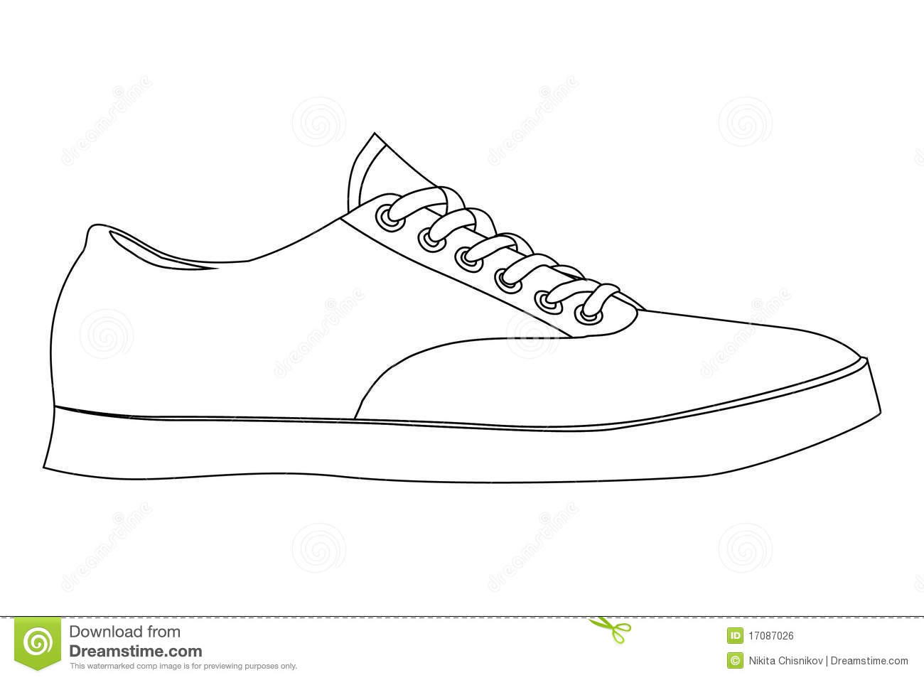 Design Tennis Shoes Template