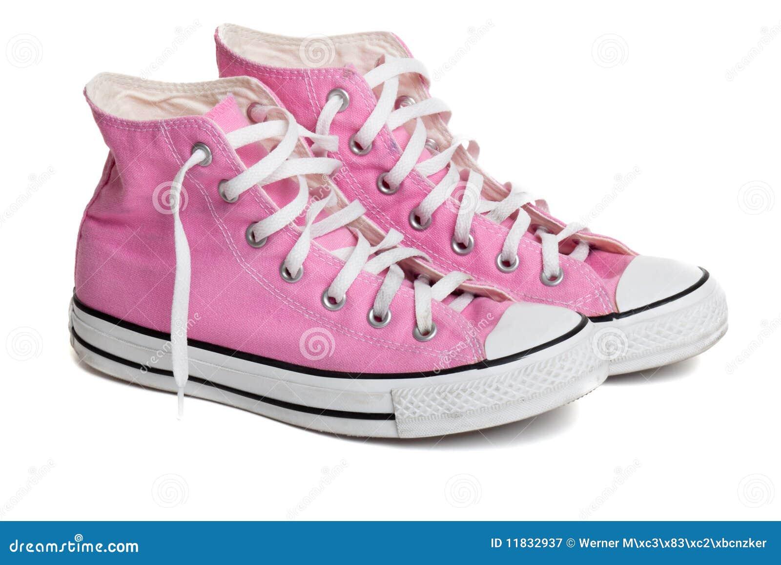 Zapatos De Baloncesto Coloreados Rosados Viejos Imagen de archivo ...