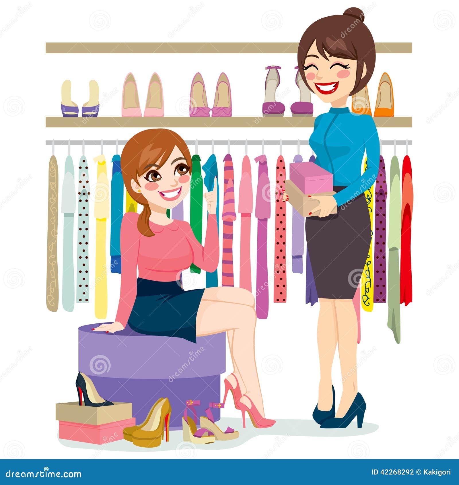 Zapatos de las compras de la mujer