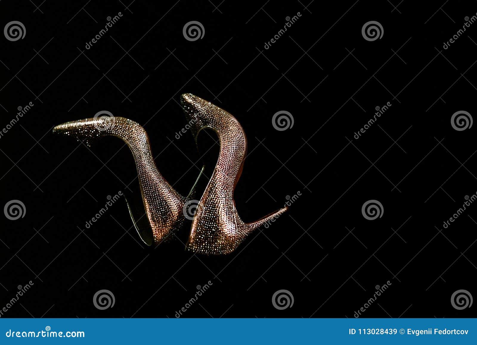Zapatos de lujo de la boda del ` s de las mujeres