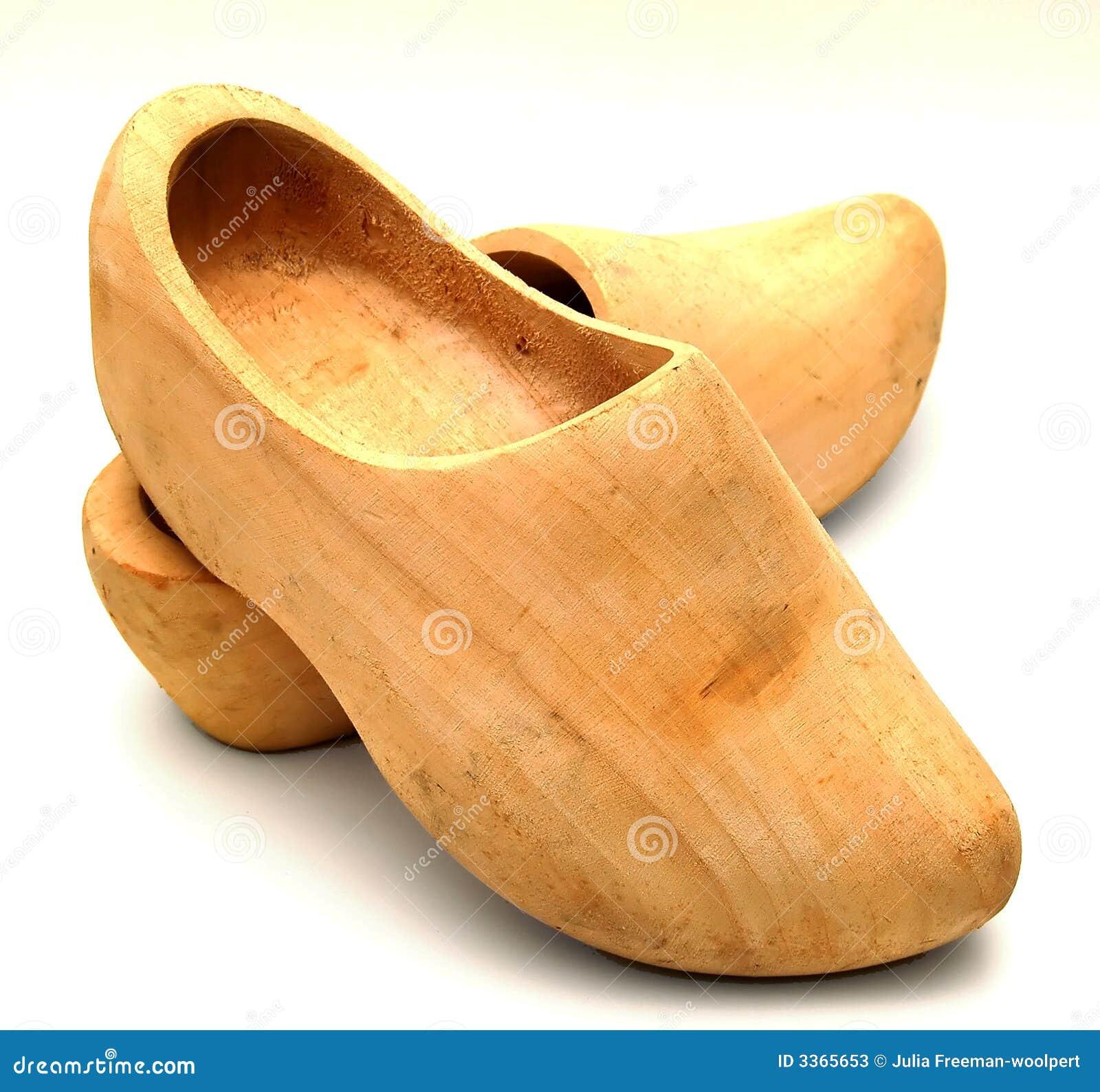 zapatos de madera aislados fotos de archivo imagen 3365653