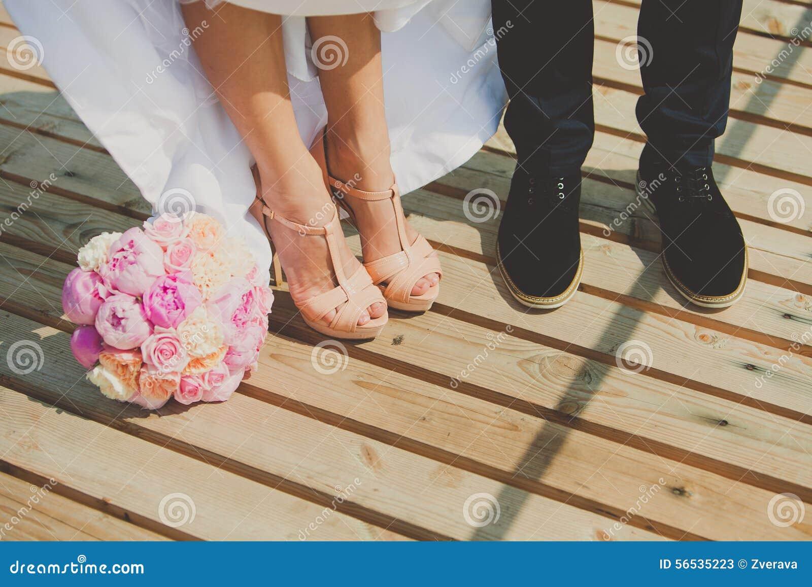 novio marrón de Zapatos de el piso en novia y del madera I7gvxgw6qH