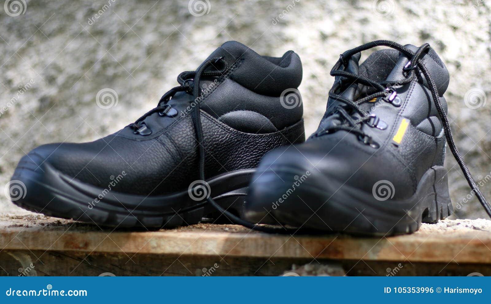 Zapatos Archivo De Negros Cuero Imagen Seguridad Foto rxrSq8Z