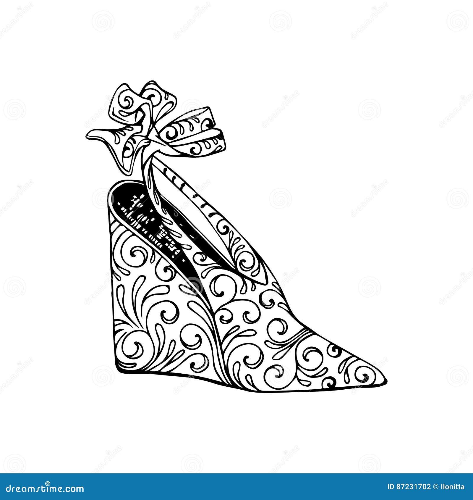 Zapatos De Tacón Alto Para La Mujer Forme Las Ilustraciones Del ...