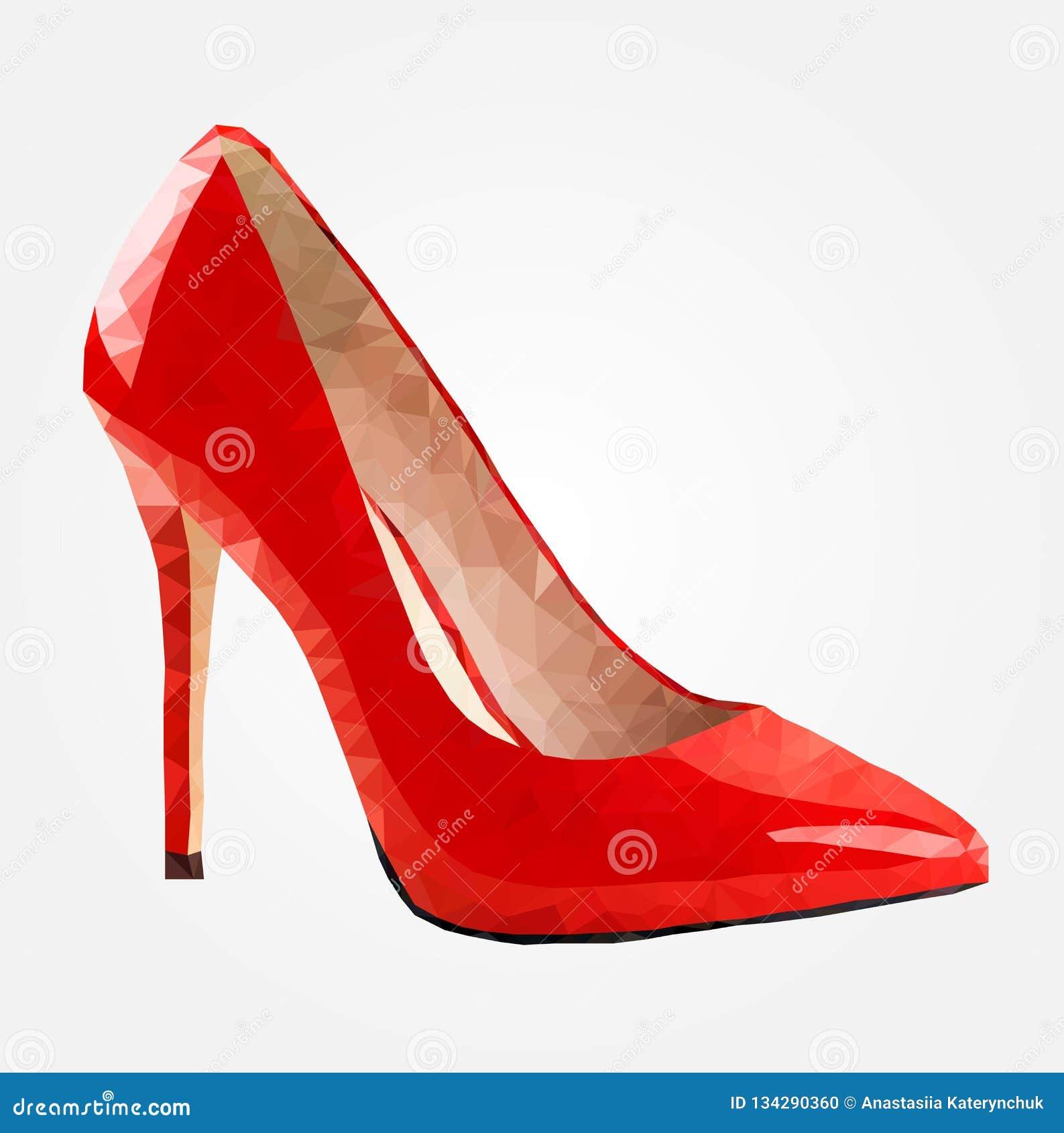 Zapatos polivinílicos bajos, zapatos rojos de las mujeres Bajo-polivinílico