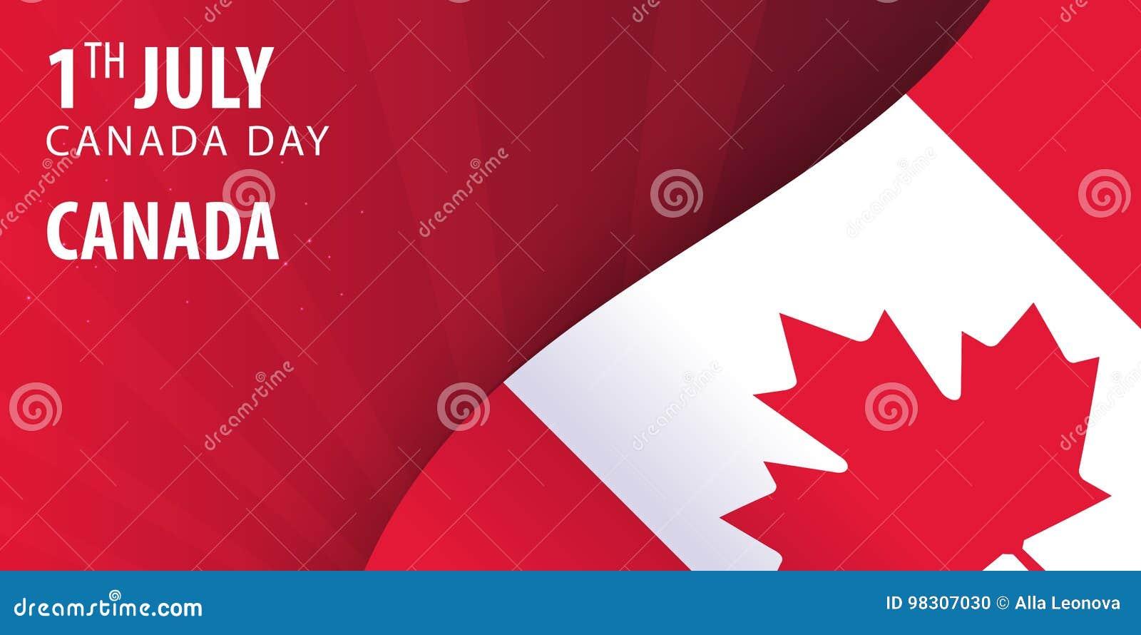 Zapina Canada dzień ikony ustawiać Chorągwiany i Patriotyczny sztandar również zwrócić corel ilustracji wektora
