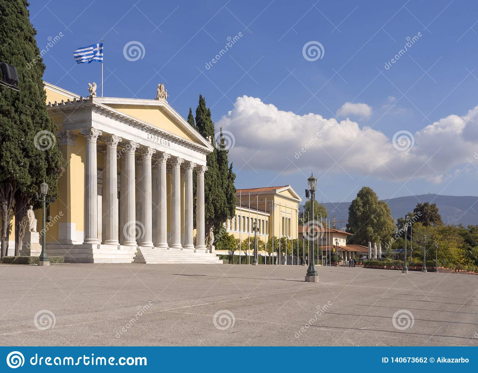 Zappeion - uma construção no estilo clássico em Atenas, Grécia