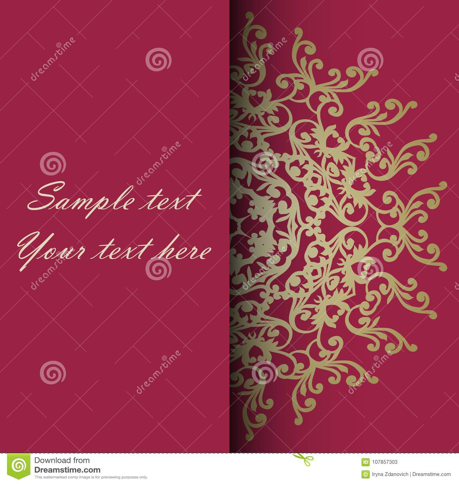 Zaproszenie karta dla ślubu, rocznicy, urodziny i inny,