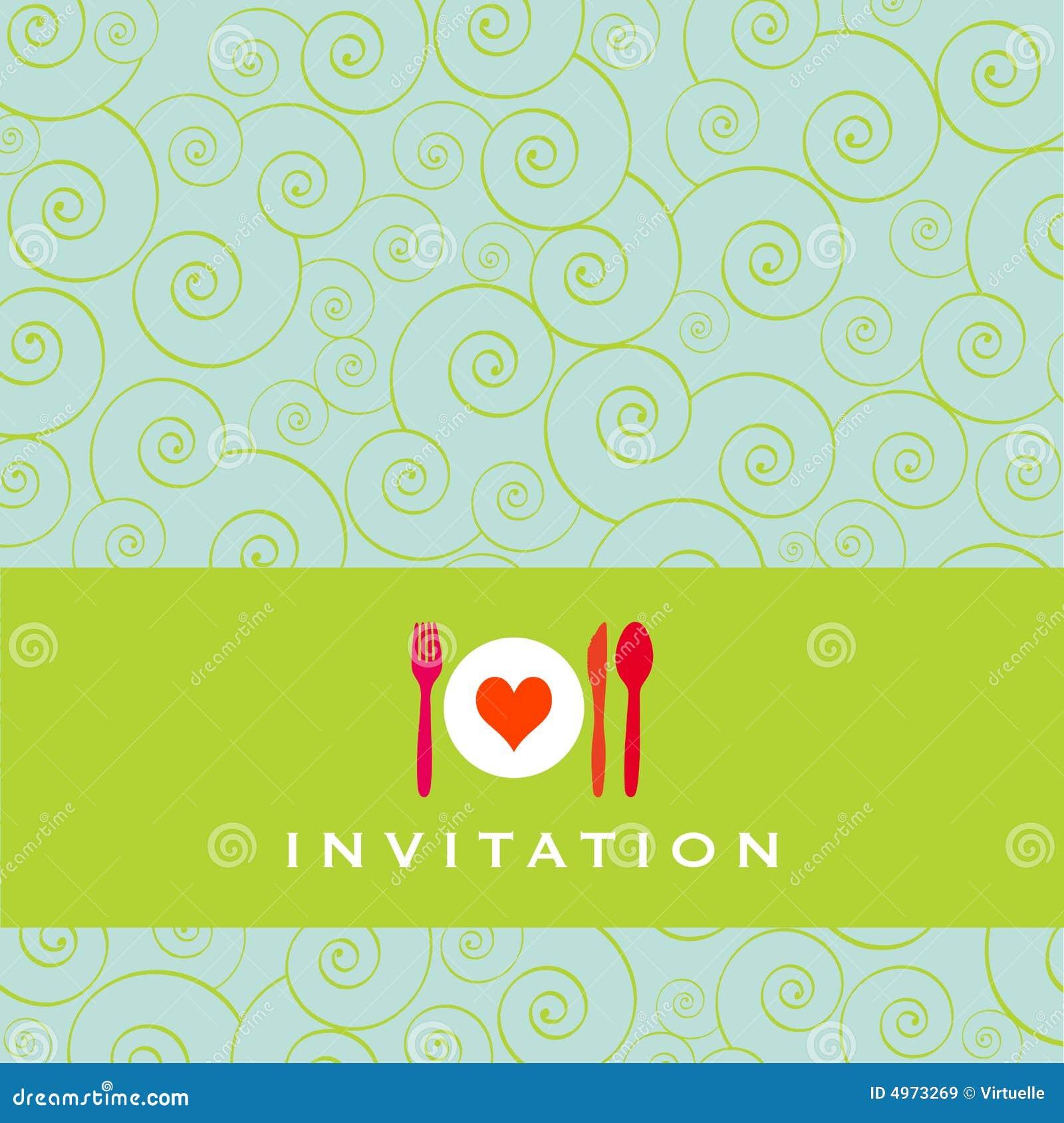Zaproszenie Na Obiad Ilustracja Wektor Ilustracja Złożonej