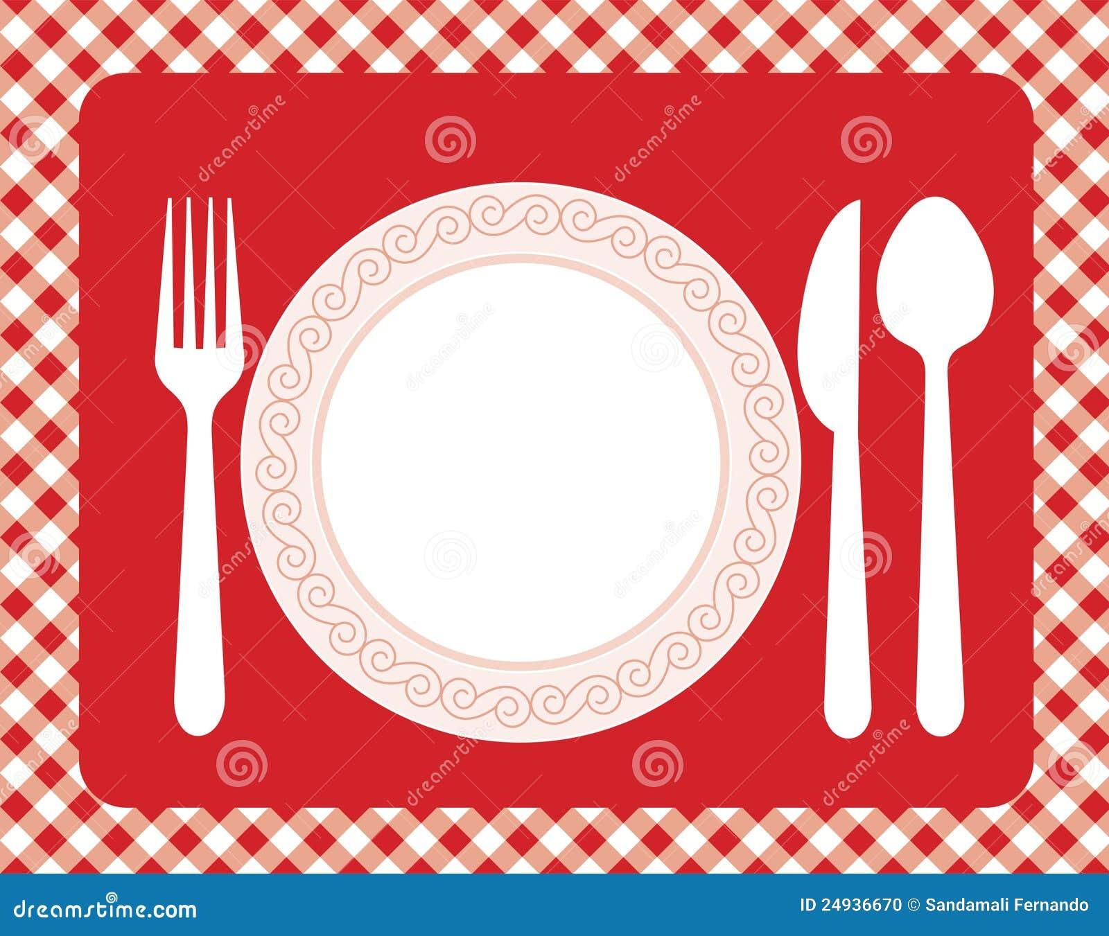 Zaproszenie Obiadowy Menu Ilustracji Ilustracja Złożonej Z