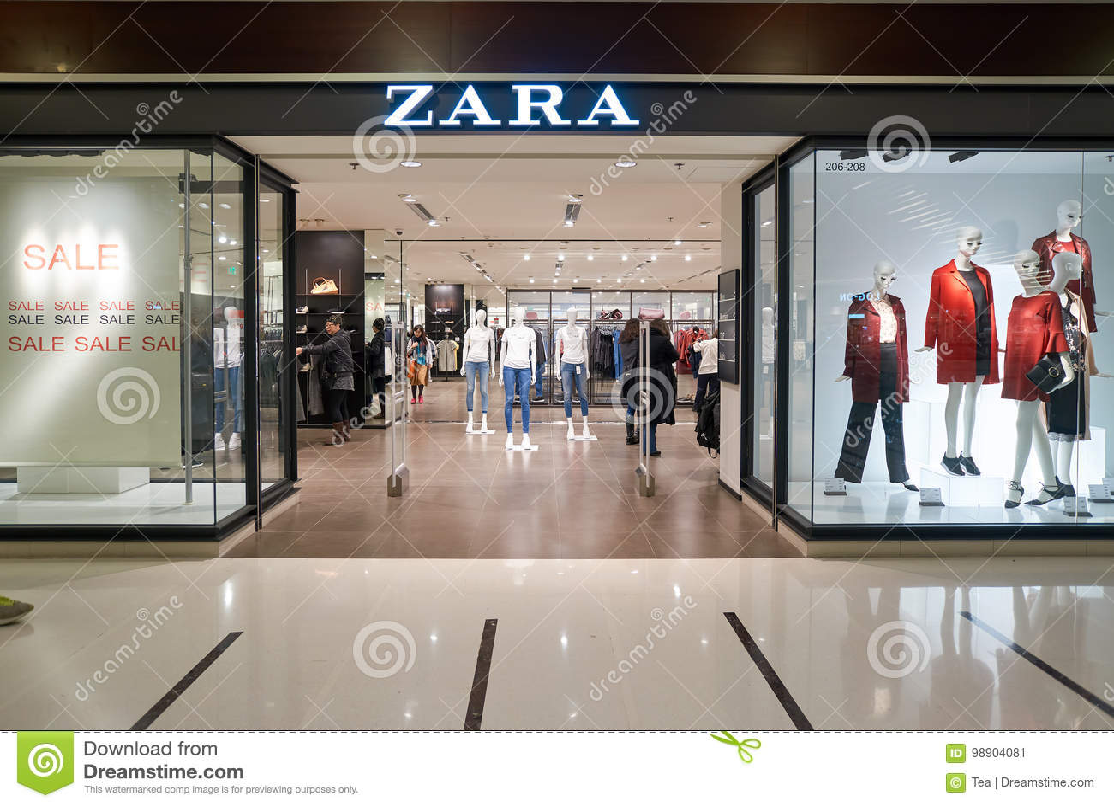 eb4853f2fc0 HONG KONG - CIRCA JANUARY, 2016: Zara store at shopping center in Hong Kong.  Zara is a Spanish clothing and accessories retailer based in Arteixo,  Galicia.