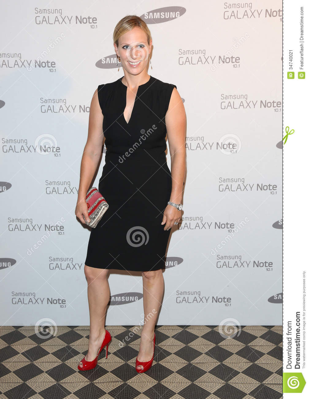 Zara Phillips arriving for the Samsung celebrate the launch of the ...