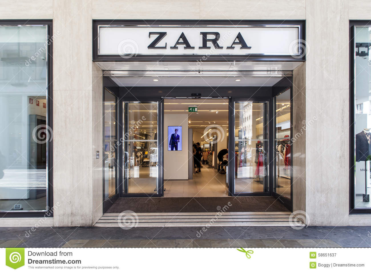 zara shop editorial photography image of business australia 58651637. Black Bedroom Furniture Sets. Home Design Ideas