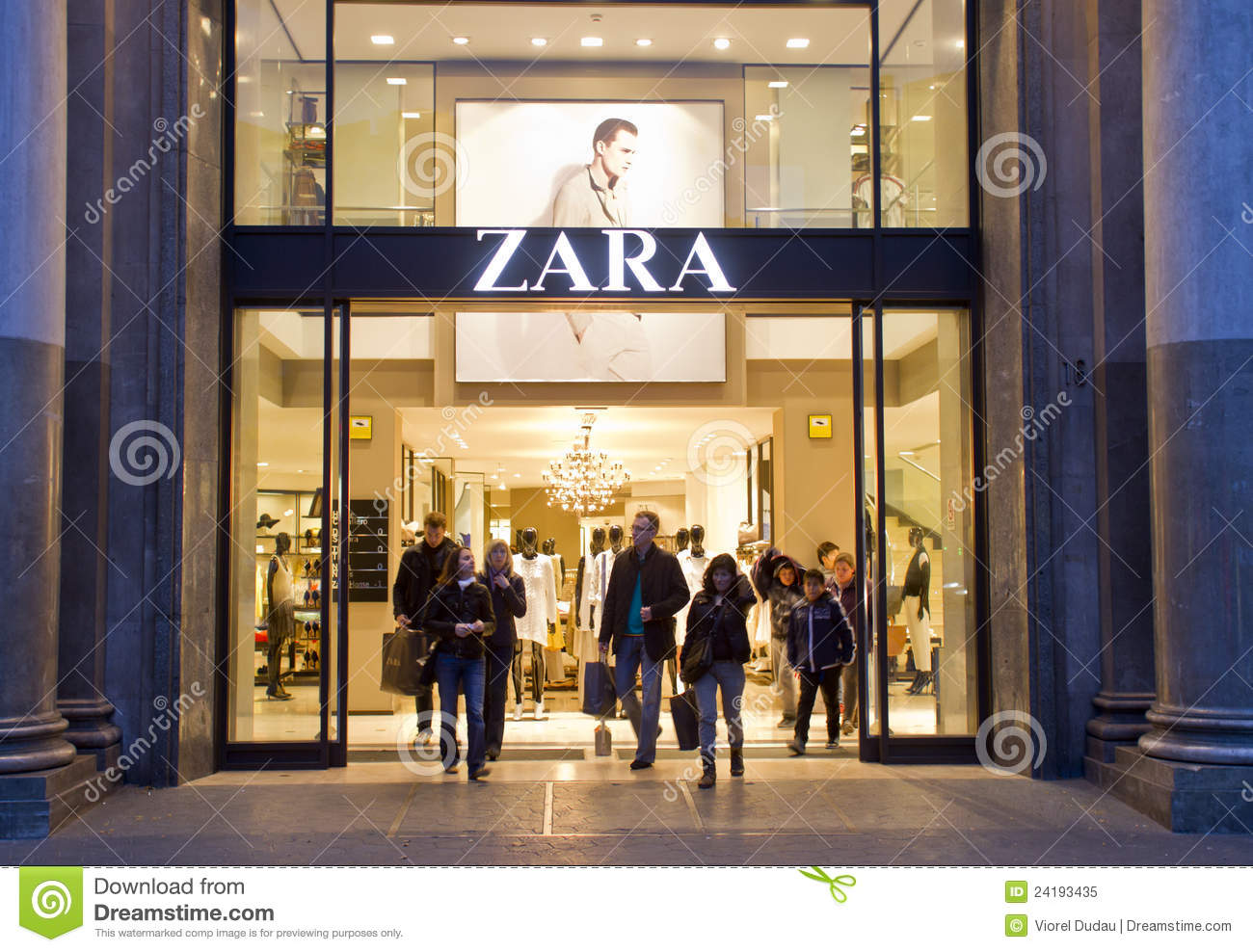 Zara store editorial image image 24193435 - The body shop barcelona ...