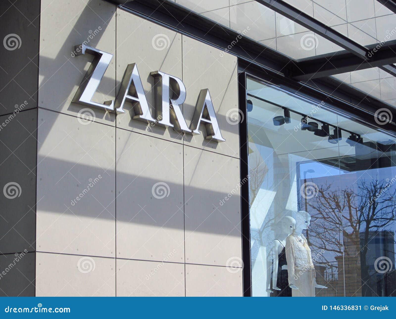 Zara store logo on a building
