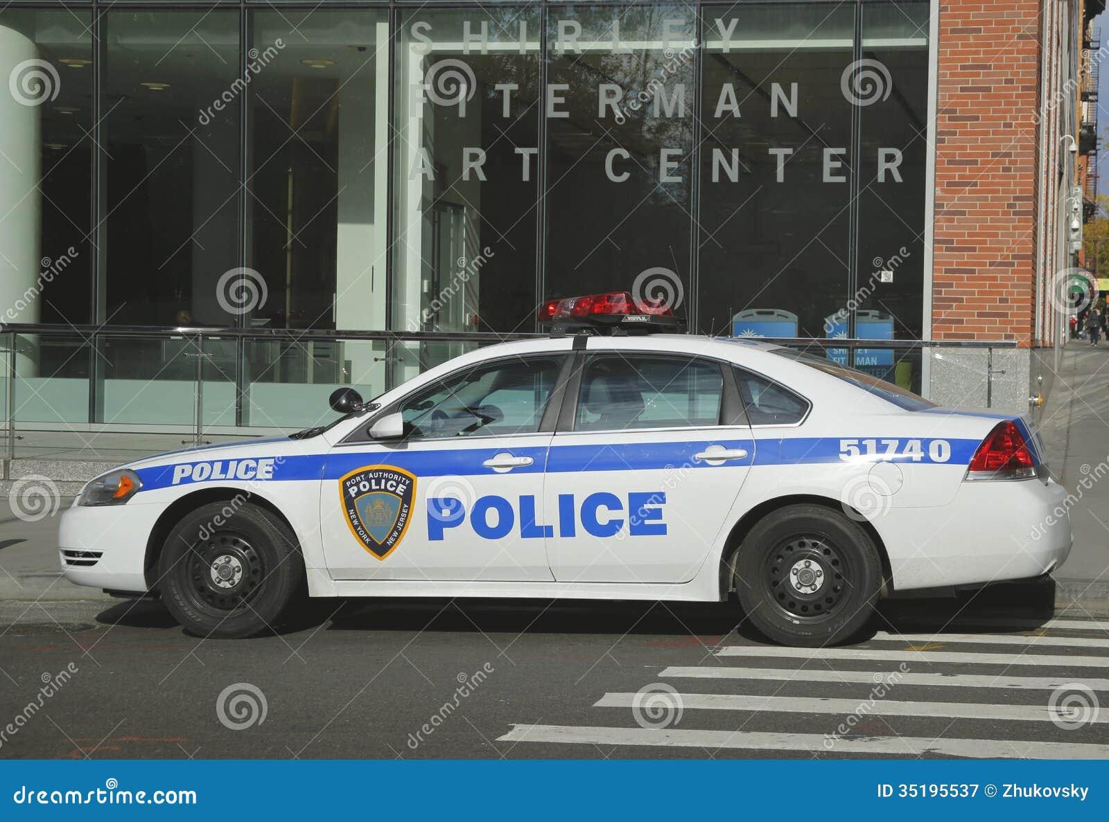 Zarząd Portu Nowy Jork Nowy - dżersejowy samochód providing ochronę w world trade center terenie