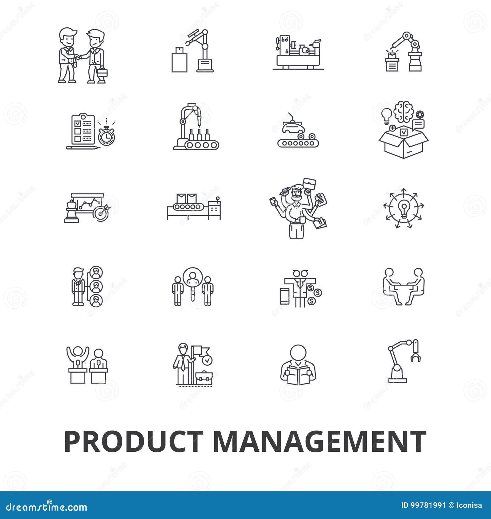 Zarządzanie projektem powiązane ikony