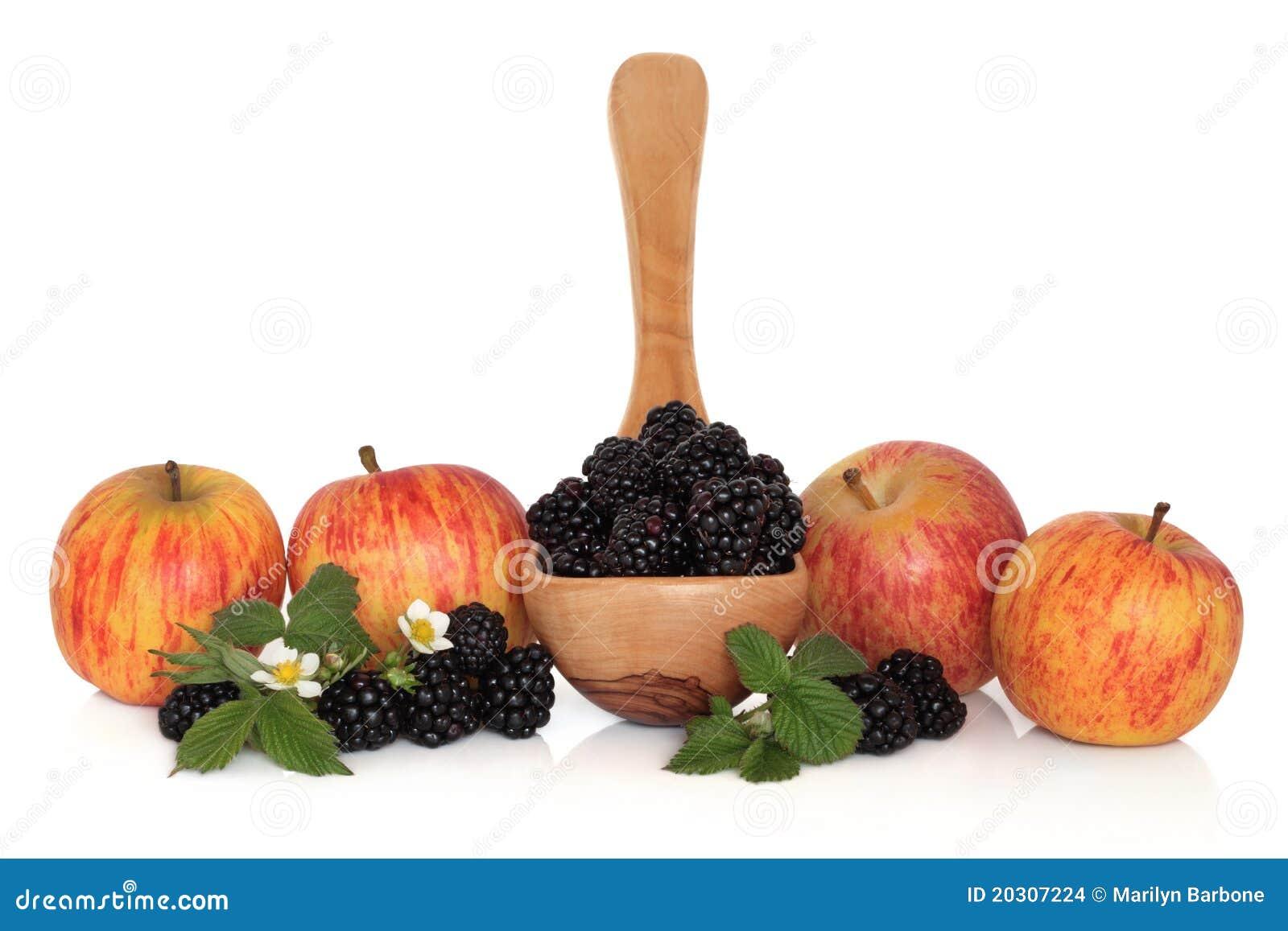 Zarzamora y fruta de Apple