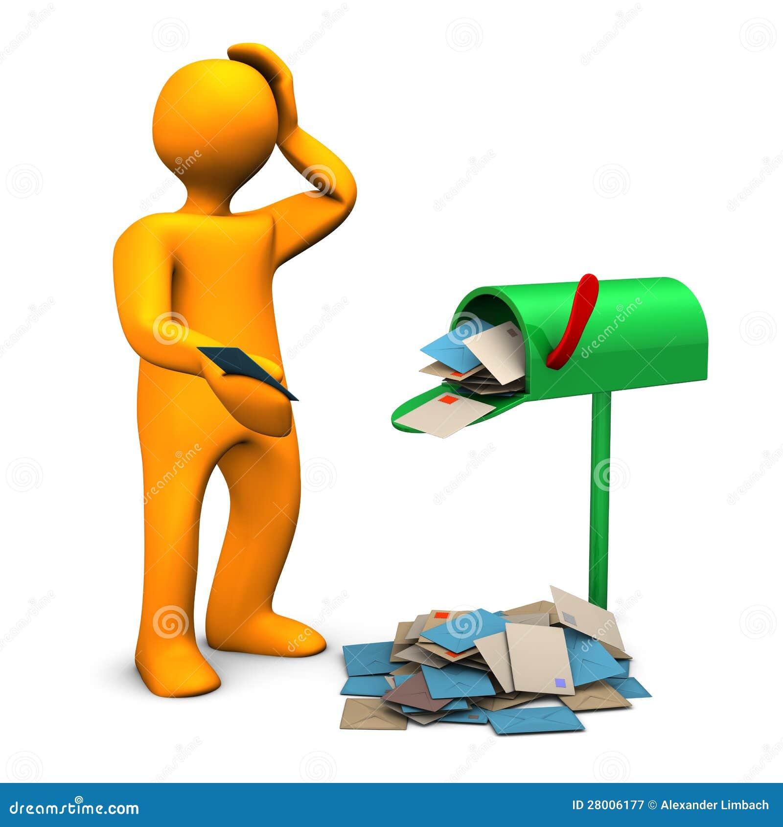 Zatłoczona skrzynka pocztowa