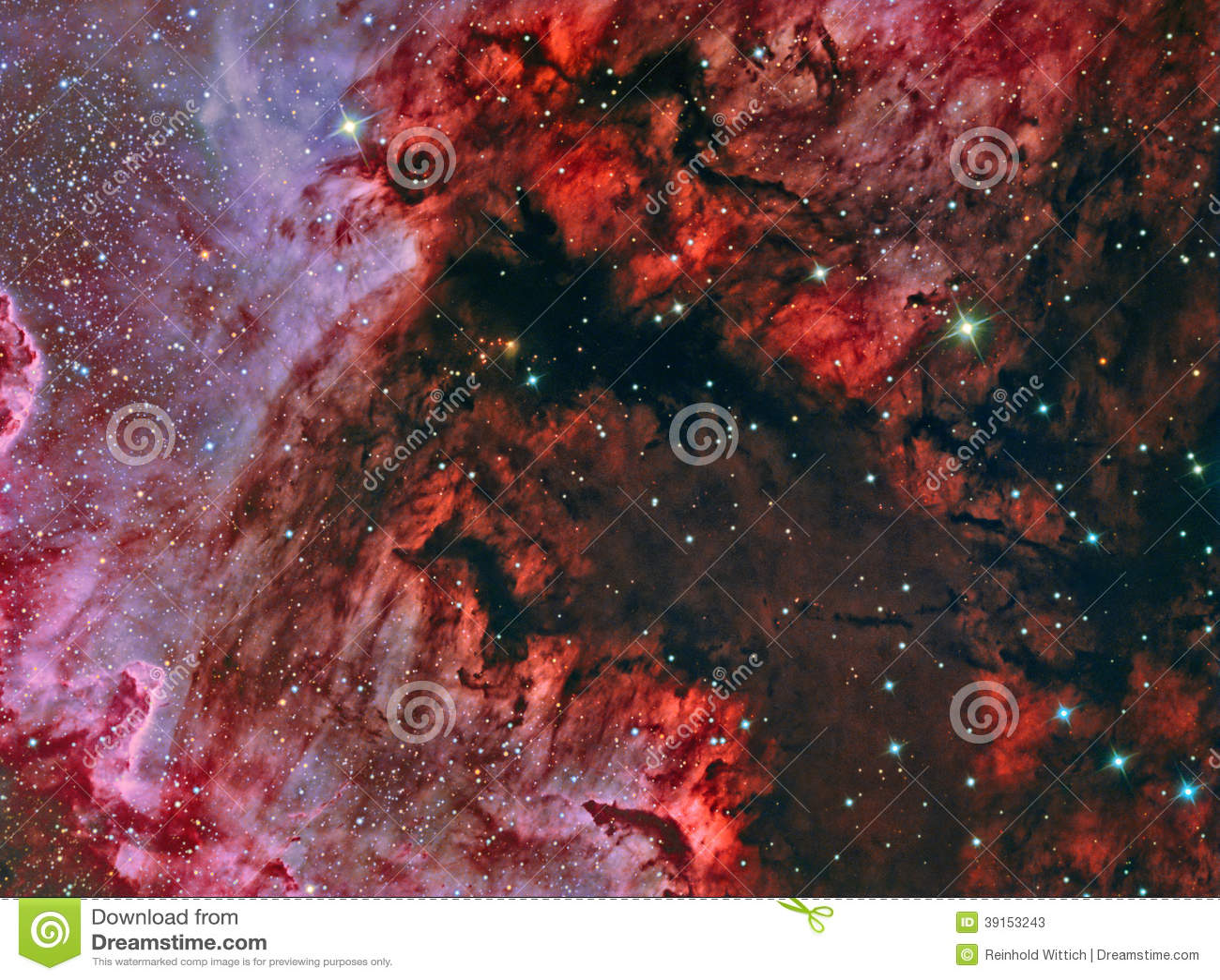 Zatoka Meksykańska w NorthAmerica mgławicie NGC 7000