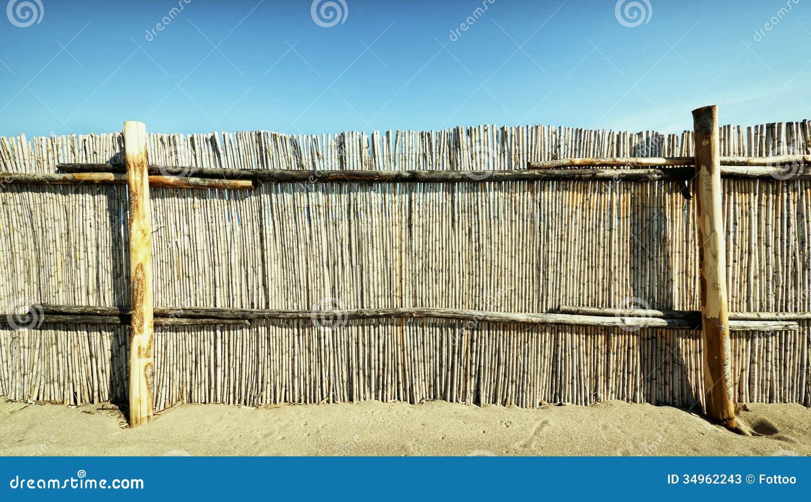 Zaun Stockbild Bild Von Zaun Teil Bambus Stamm Rustic 34962243