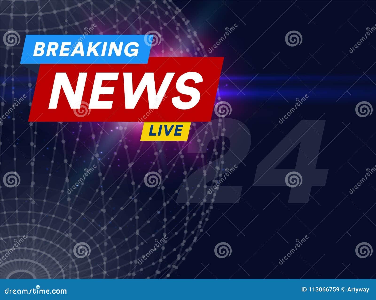 Zawiadomienie, wiadomości linia z wiadomością, światowa opóźniona wiadomość na powietrzu na futurystycznym zmroku - błękitny tło