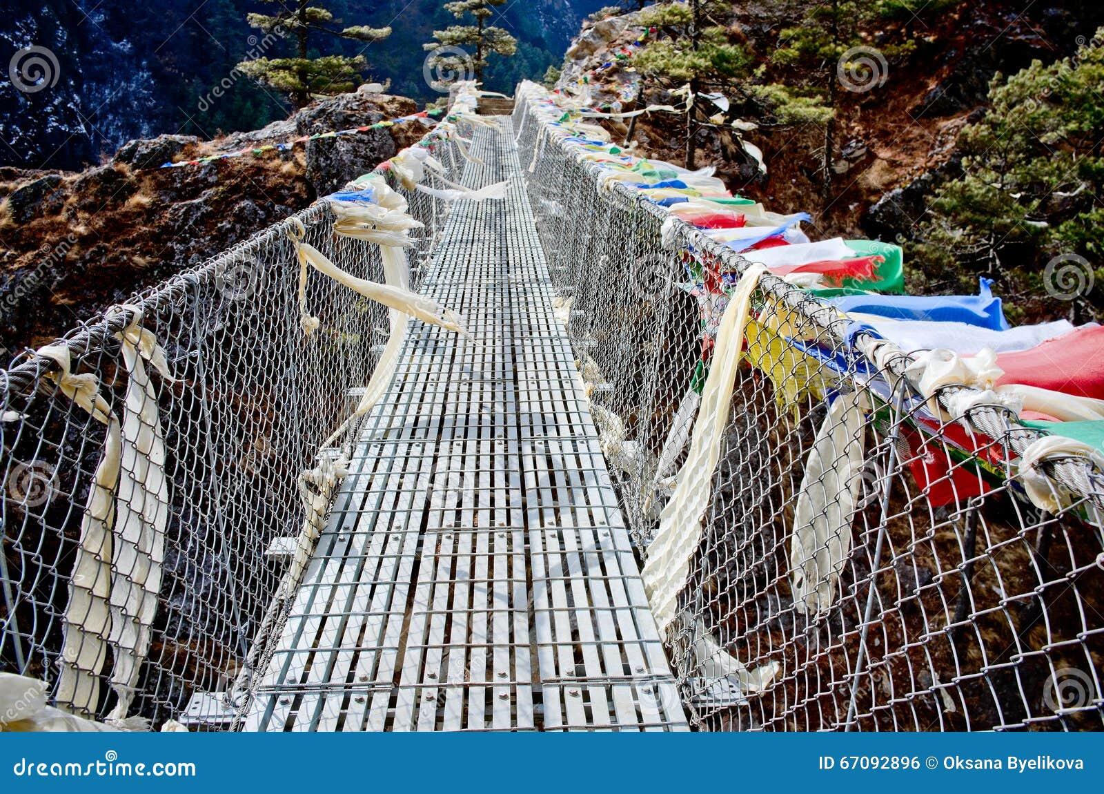 Zawieszenie most w Nepal
