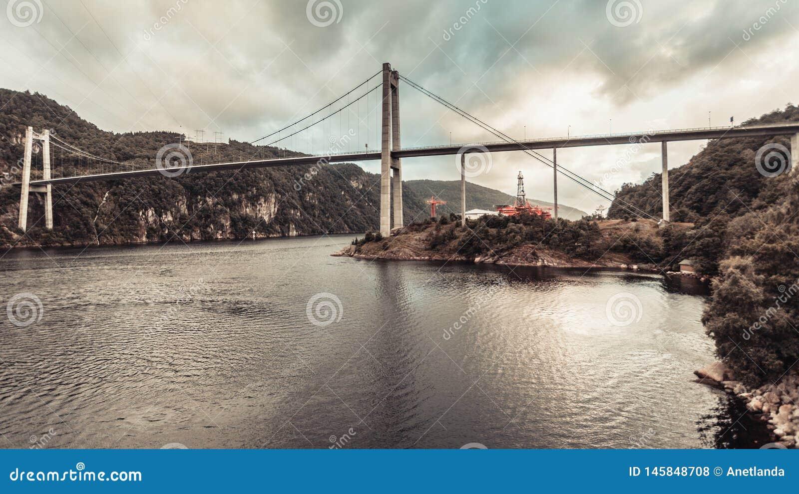 Zawieszenie most w Norwegia