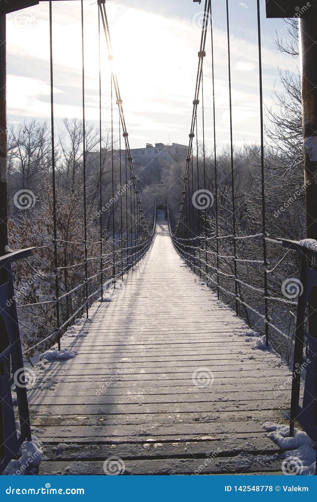 Zawieszenie most w Rosyjskiej prowincji