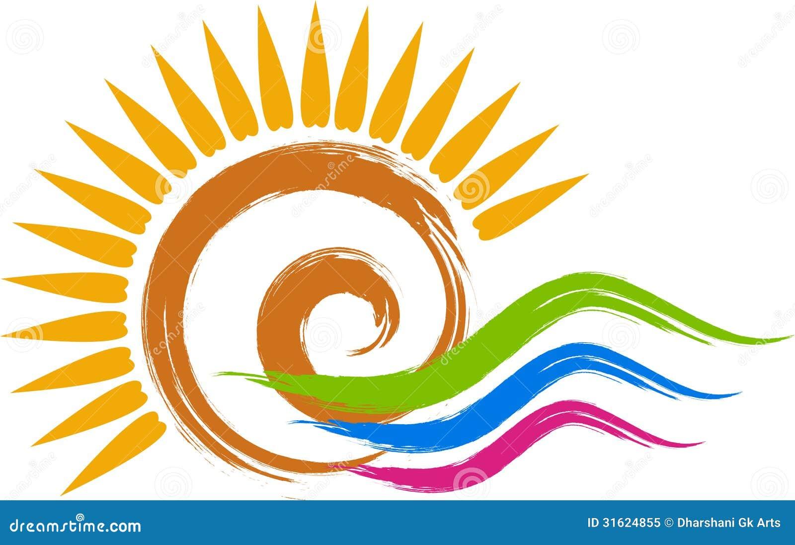 Zawijasa słońca logo
