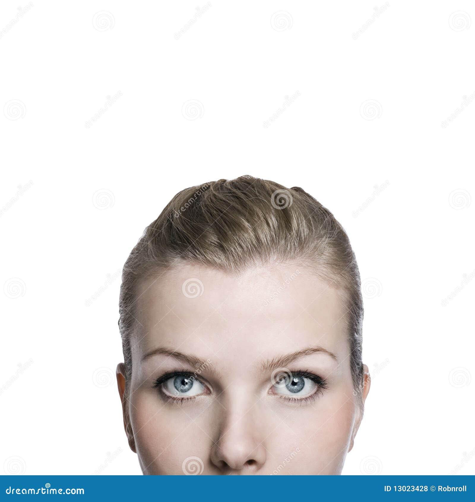 Zbliżenia twarzy część strzału wierzchu womans