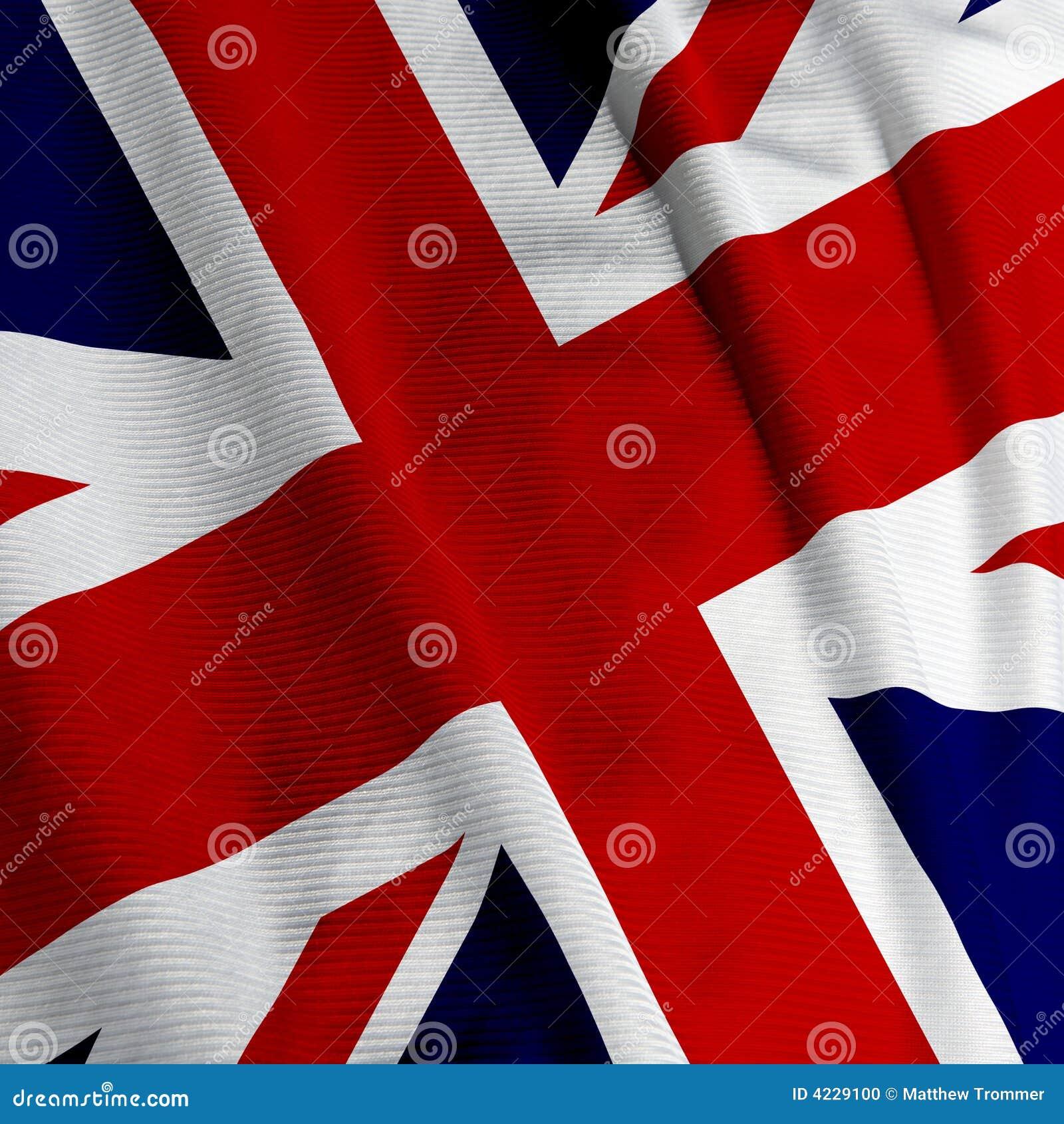Zbliżenie brytyjska flagę