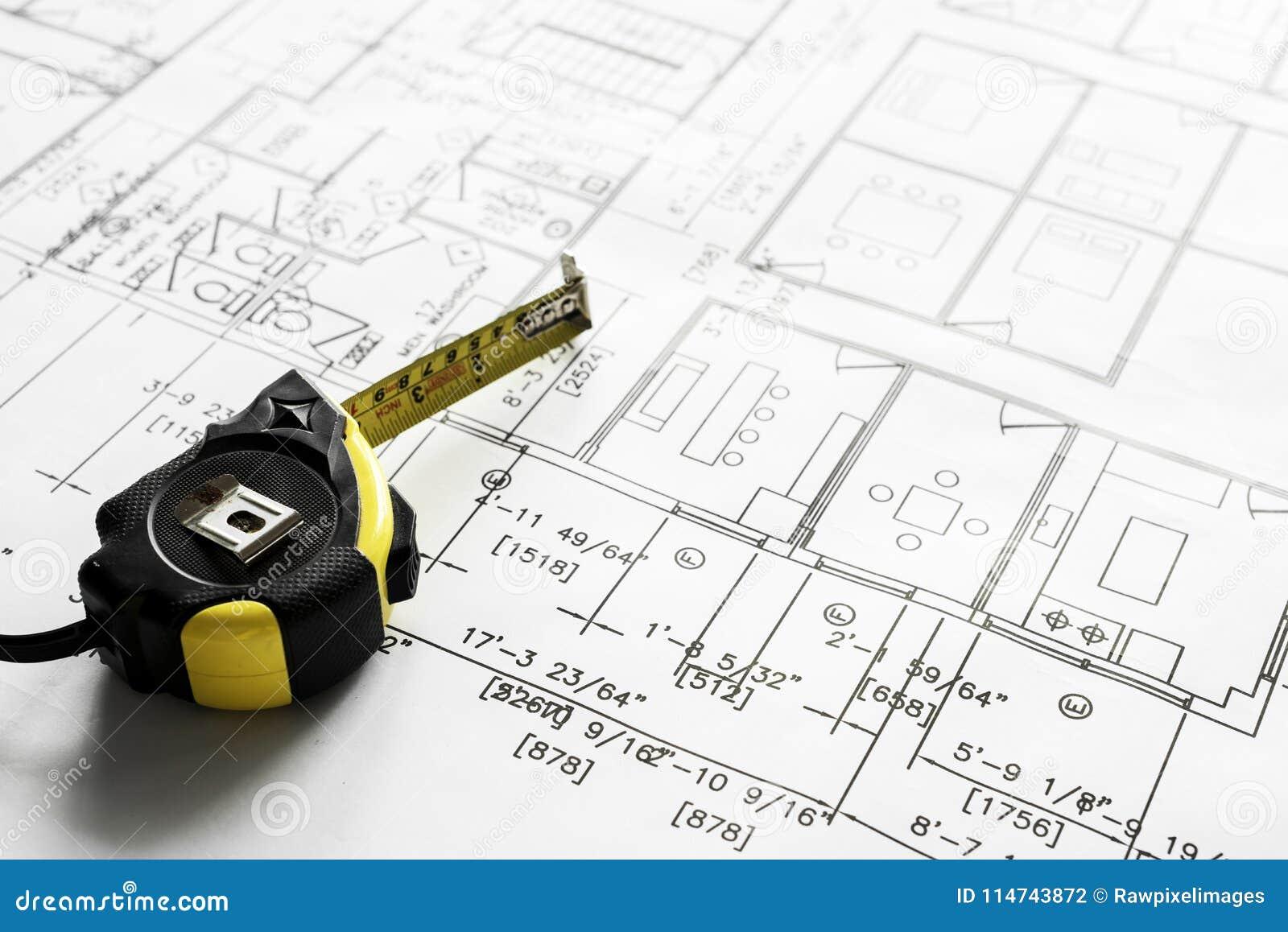 Zbliżenie domowy planu projekt
