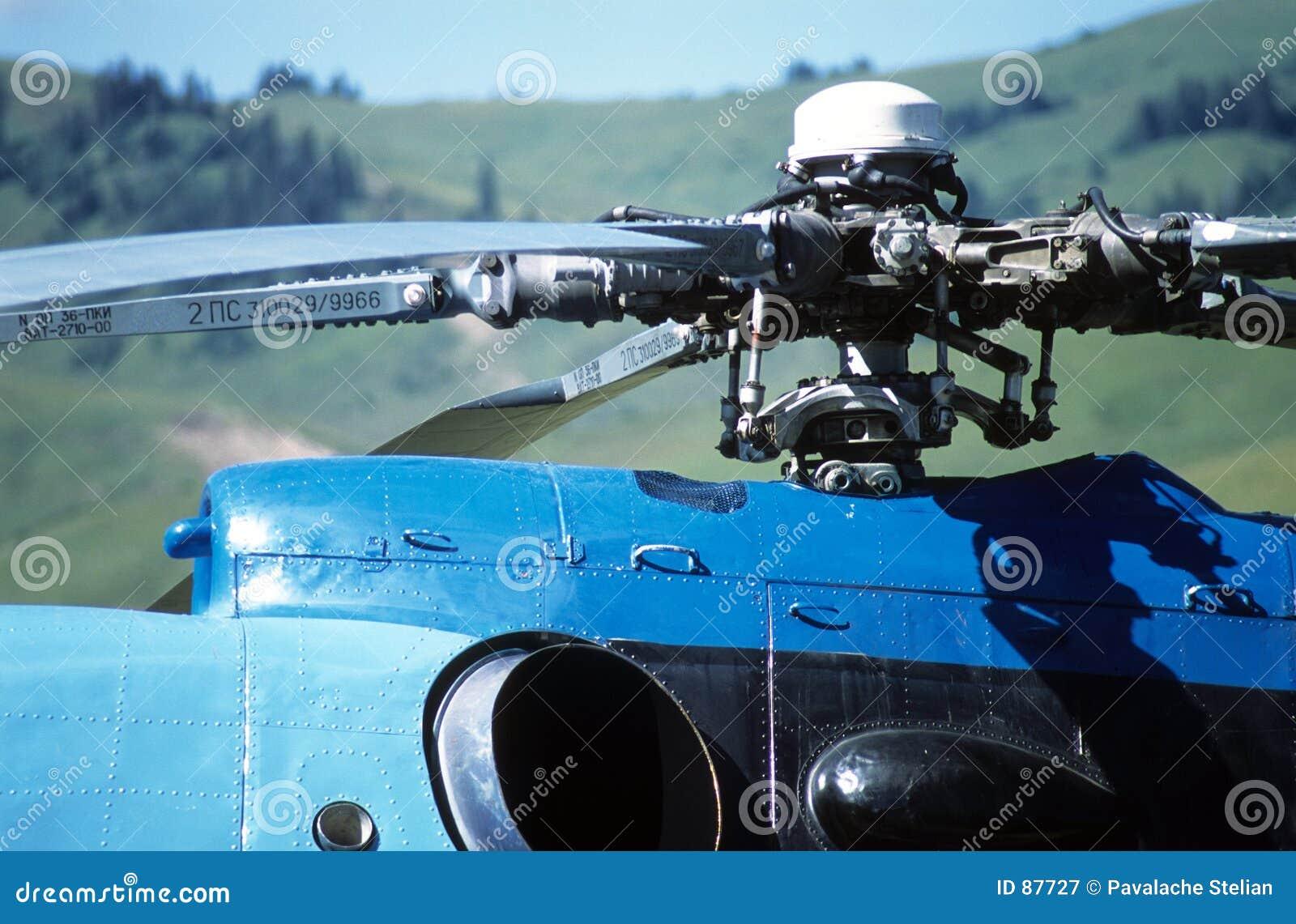 Zbliżenie helikopter